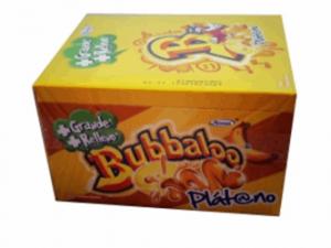 Bubbaloo de platano  gum 50pcs