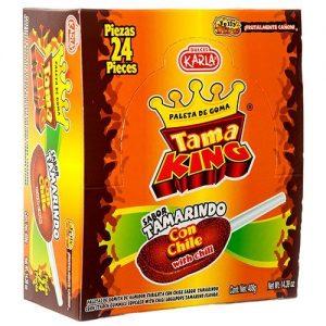 Tama king paleta con tamarindo/chile 24pcs