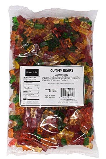 Kervan Gummy Bears 5lbs La Catrina Candy Store