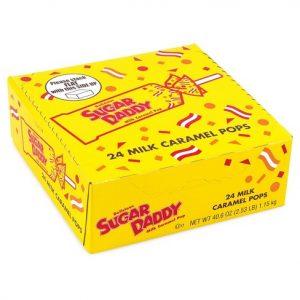 Sugar Daddy Milk Caramel Pop 24pcs